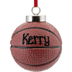 Basketball Personalized Christmas Ornament