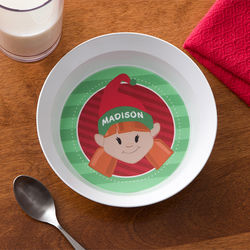 Christmas Character Personalized Melamine Bowl