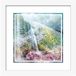 Hallucinogenic Waterfall Framed Print