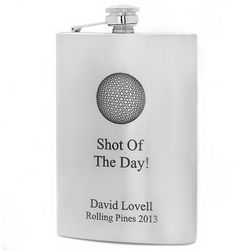 Personalized Shot of the Day Golf Flask