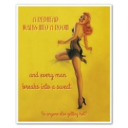 Personalized Fiery Bombshell Pin-up Metal Sign