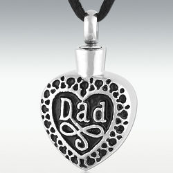 Engravable Dearest Dad Stainless Steel Cremation Jewelry