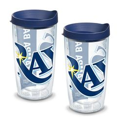 2 Tampa Bay Rays Colossal 16 Oz. Tervis Tumblers with Lids
