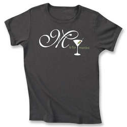 M is for Martini T-Shirt