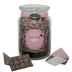 'Loving Notes for Mom' Jar of Personalized Messages in Envelopes