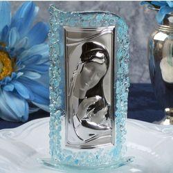 Murano Art Deco Blue Pebble Curved Design Glass Icon