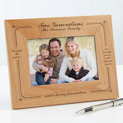 Personalized Generations of Family Wood Picture Frame