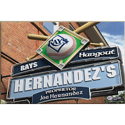 Personalized Tampa Bay Rays MLB Baseball Canvas Print