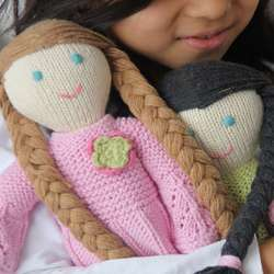 Organic Cotton Hand-Knit Sadie Doll