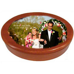 Custom Picture Oval Wood Box