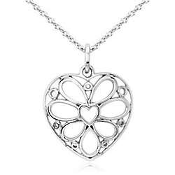 Sterling Silver Designer Heart Pendant