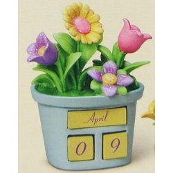 Spring Bling Perpetual Blue Flowerpot Calendar