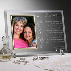 Dear Mom Poem Personalized Glass Frame