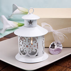 White Metal Lantern Favor