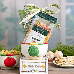 Chicken Noodle Soup and Bowl Gift Basket
