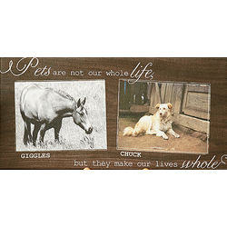 My Pets Two Photo Personalized Canvas