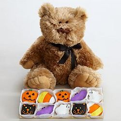 Halloween Teddy Bear with 10 Cutie Cookies