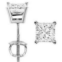 0.33 Ct. Diamond Princess Cut Stud Earrings