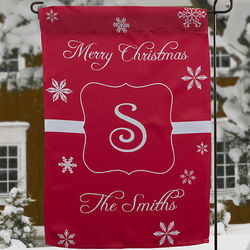 Winter Wonderland Personalized Garden Flag