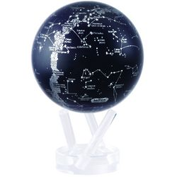 Self-Rotating Silver Constellation Globe