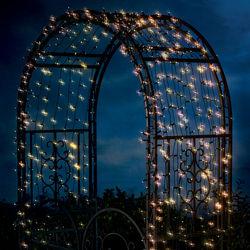 200 White LED Solar String Lights