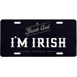 Thank God I'm Irish Catholic License Plate