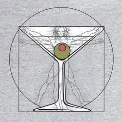 Da Vinci's Martini Man T-Shirt