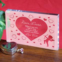 Cupid's Message Valentine Keepsake