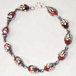 Amber Ladybug Bracelet