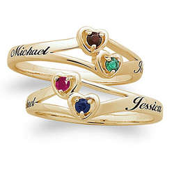 Couples Birthstone Ring