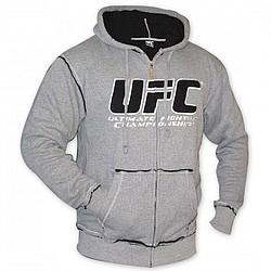 Men's Sherpa Hooded Sweatshirt in Grey & Black