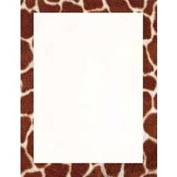 Giraffe Animal Print Stationery Paper