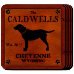 Personalized Labrador Cabin Coaster Set