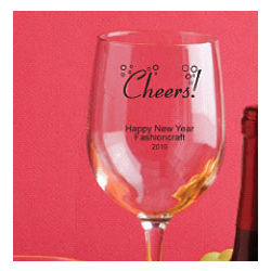 Personalized Holiday Wine Glasses