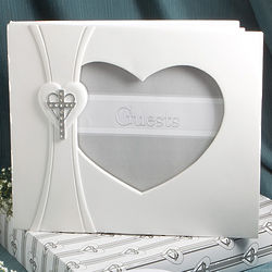 Cross and Heart Guest Book