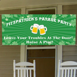 Personalized St. Patrick's Day Party Banner