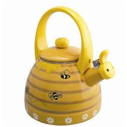 Honeycomb Whistling Enamel on Steel Tea Kettle