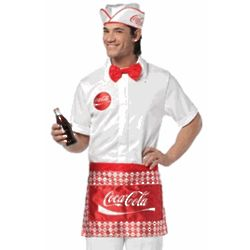 Men's Coca Cola Soda Jerk Costume