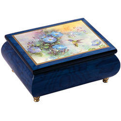 Violet Crowned Hummingbird Italian Music Box