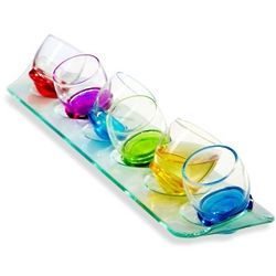 Roly Poly Rocking Shot Glass Set