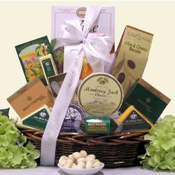Note of Thanks Gourmet Cheese Gift Basket