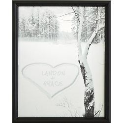 Personalized Heart in Snow Canvas