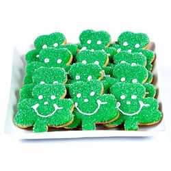 St. Patrick's Day Sugar Sprinkled Shamrock Cookies