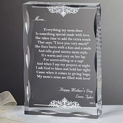 Dear Mom Poem Personalized Plaque