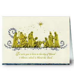 Personalized Nativity Religious Christmas Cards