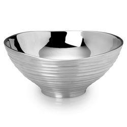 Large Swirl Aluminum Round Bowl