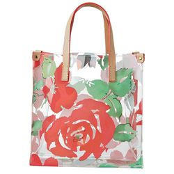 Rose Print Plastic Lunch Tote