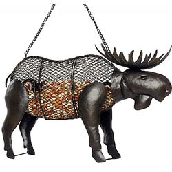 Moose-Shaped Mesh Bird Feeder