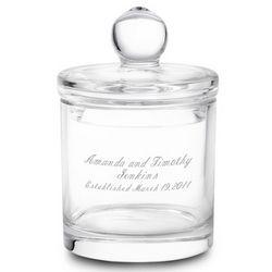 Engravable Crystal Jar with Lid