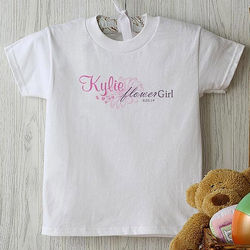 Personalized Flower Girl Youth T-Shirt